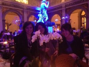 Le mie tre splendide compagne di serata